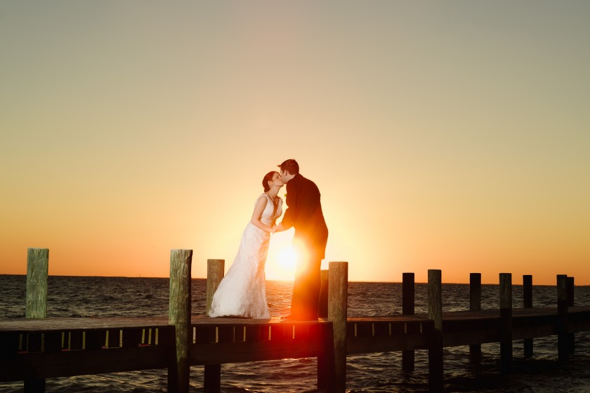 Just like every other detail of the day, the sunset gave off a perfect glow that matched that of the new husband and wife.